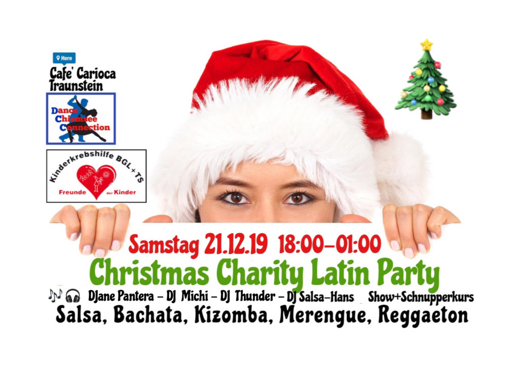 Christmas Charity Latin Party Café Carioca Traunstein 21. Dezember 2019